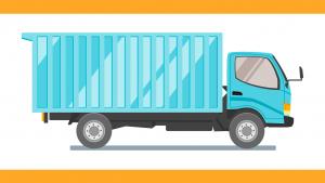 משאית כחולה