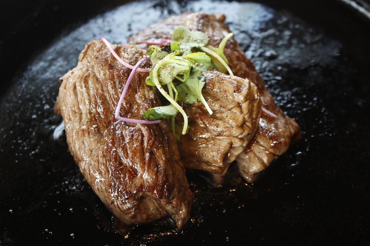 בשר לאחר שימוש בגריל