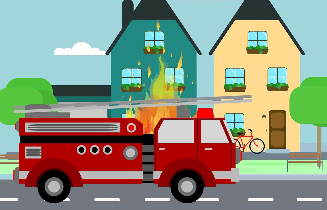 שרפה בבית