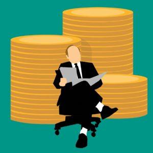 איש ומטבעות של כסף