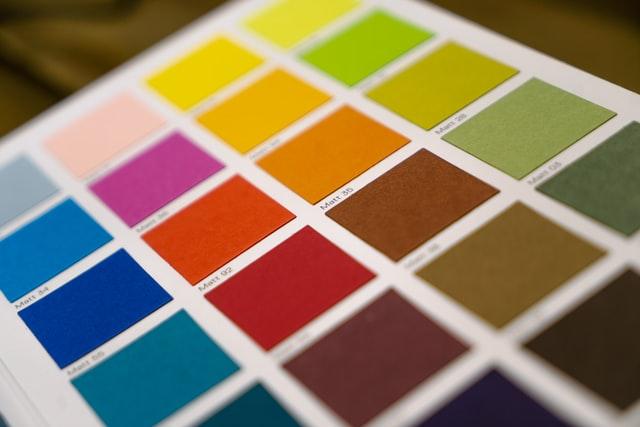 פלטת צבעים להדפסה - תמונה להמחשה
