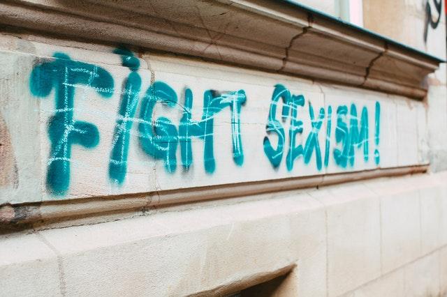 כיתוב על הקיר של fight sexism